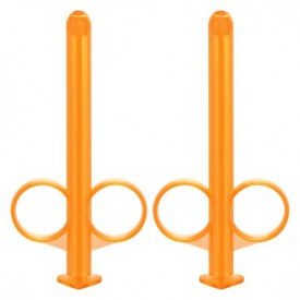 Набор из 2 оранжевых шприцов для введения лубриканта Lube Tube